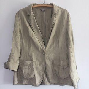 J. Jill Silk Willow Blazer Silk Linen Size Large
